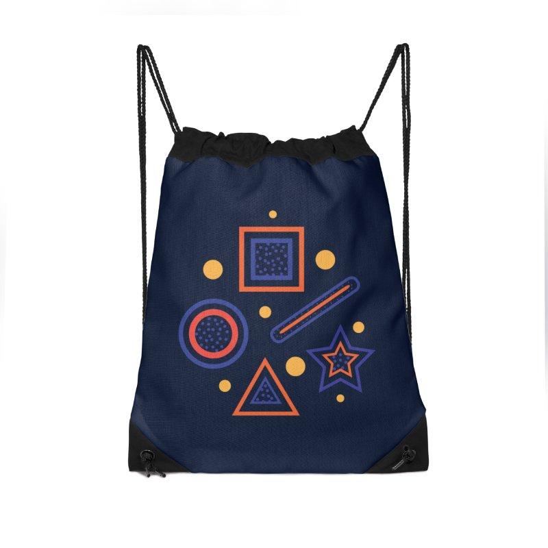 Geometry Accessories Drawstring Bag Bag by Hue Hub