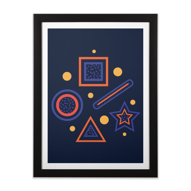 Geometry Home Framed Fine Art Print by Hue Hub
