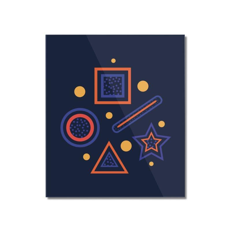 Geometry Home Mounted Acrylic Print by Hue Hub