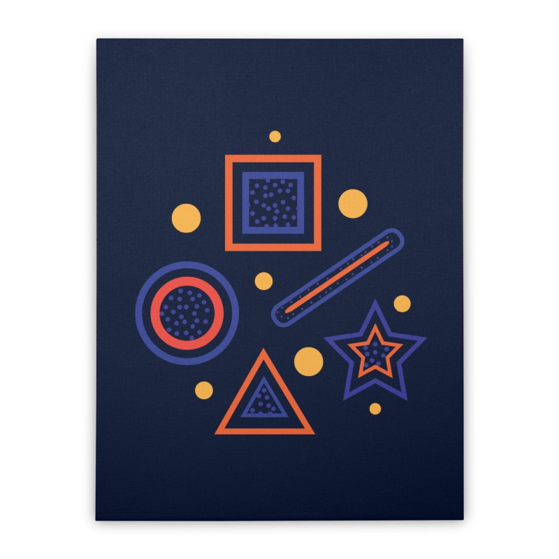 Geometry Home Stretched Canvas by Hue Hub