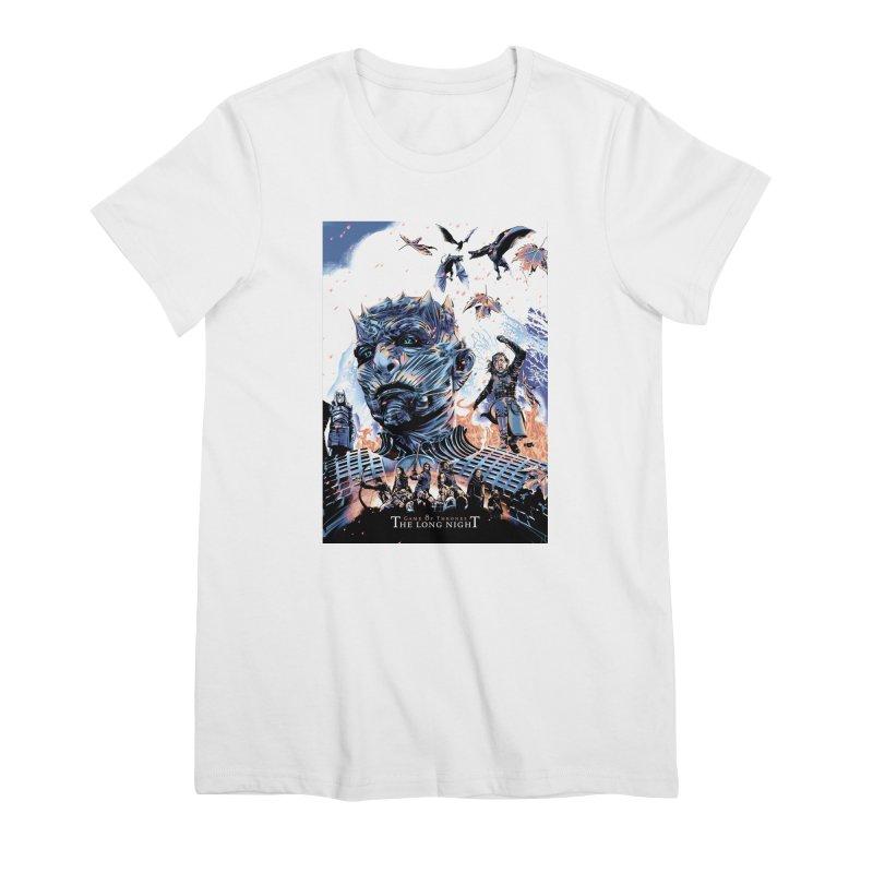 The Long Night Women's Premium T-Shirt by Huevart's Artist Shop