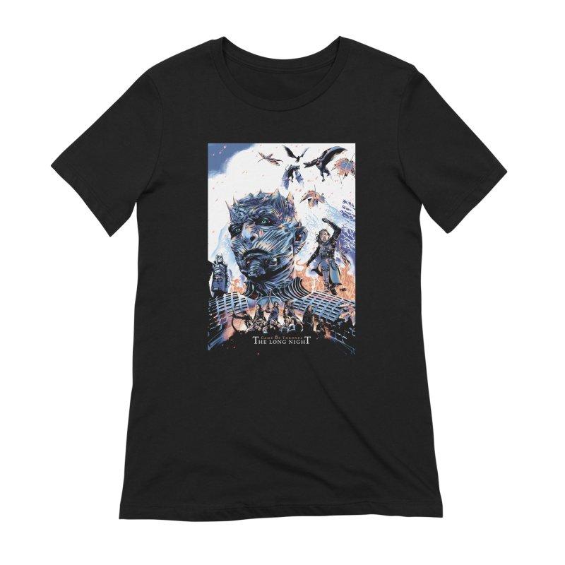 The Long Night Women's Extra Soft T-Shirt by Huevart's Artist Shop