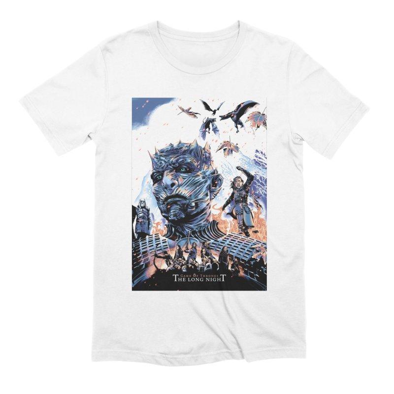 The Long Night Men's Extra Soft T-Shirt by Huevart's Artist Shop