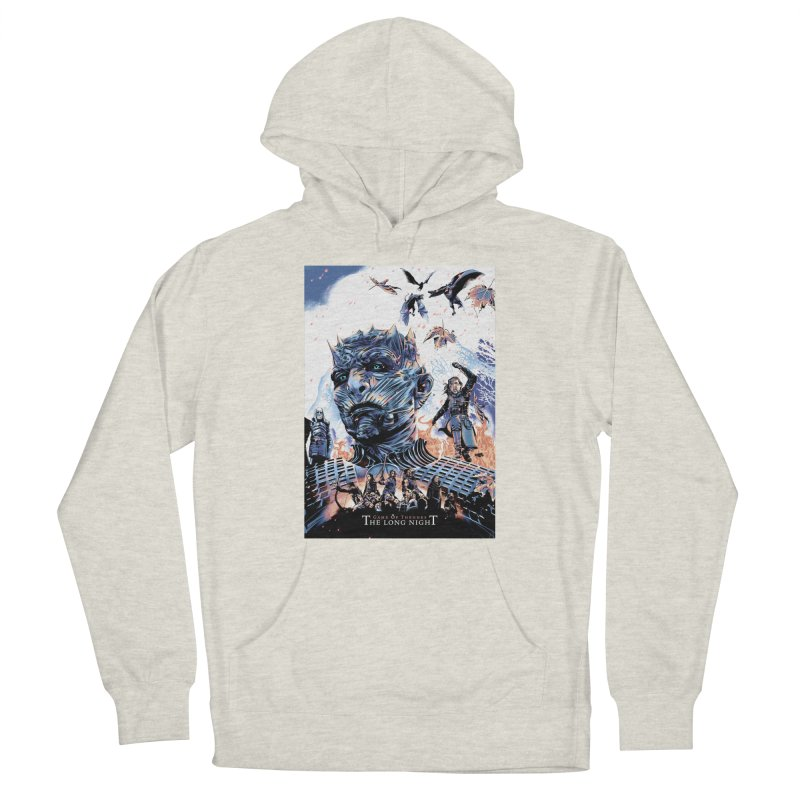 The Long Night Men's French Terry Pullover Hoody by Huevart's Artist Shop