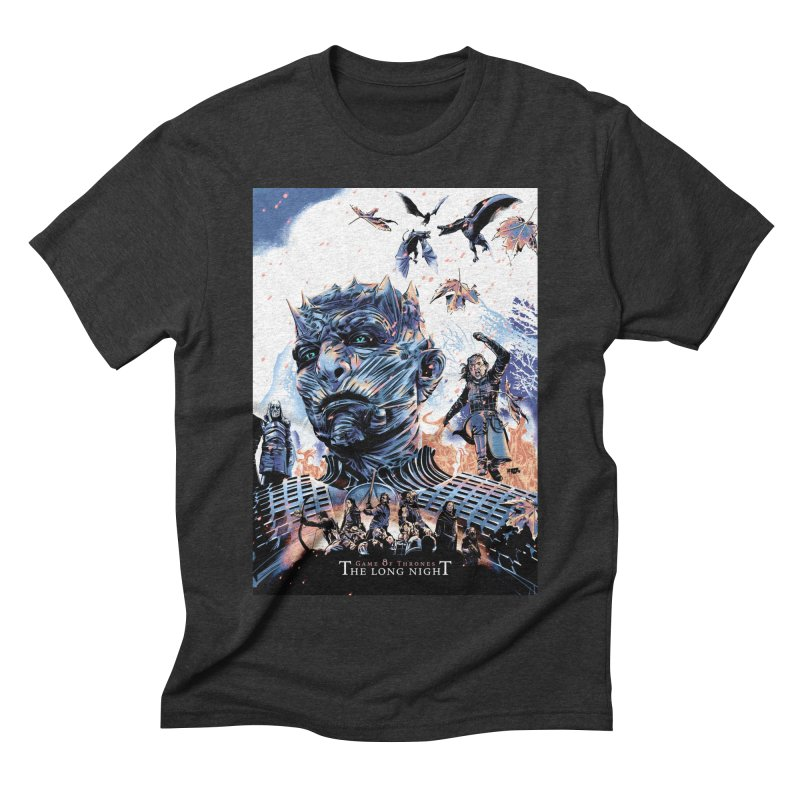 The Long Night Men's Triblend T-Shirt by Huevart's Artist Shop
