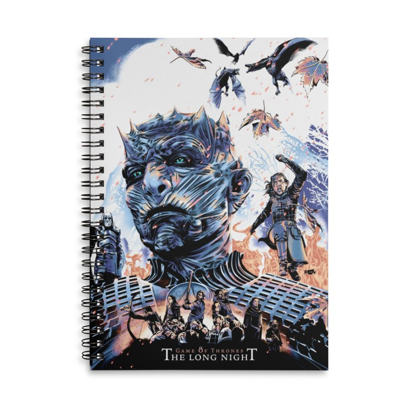 The Long Night Accessories Lined Spiral Notebook by Huevart's Artist Shop