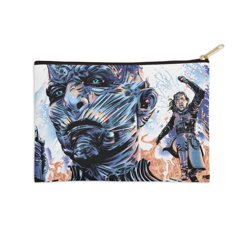The Long Night Accessories Zip Pouch by Huevart's Artist Shop