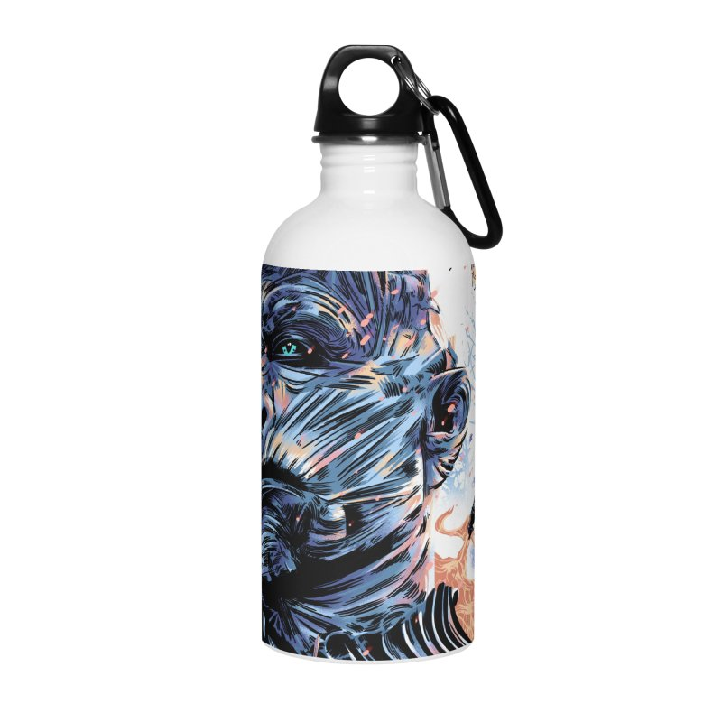 The Long Night Accessories Water Bottle by Huevart's Artist Shop