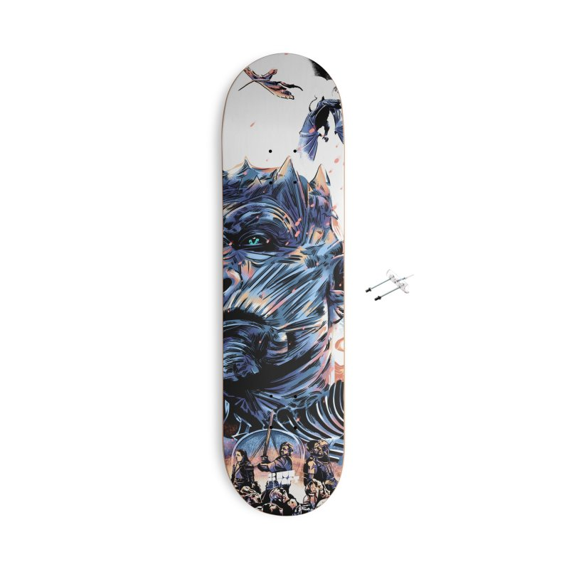 The Long Night Accessories With Hanging Hardware Skateboard by Huevart's Artist Shop