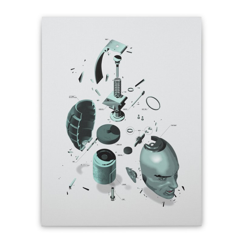 GrenaDude Home Stretched Canvas by Huevart's Artist Shop