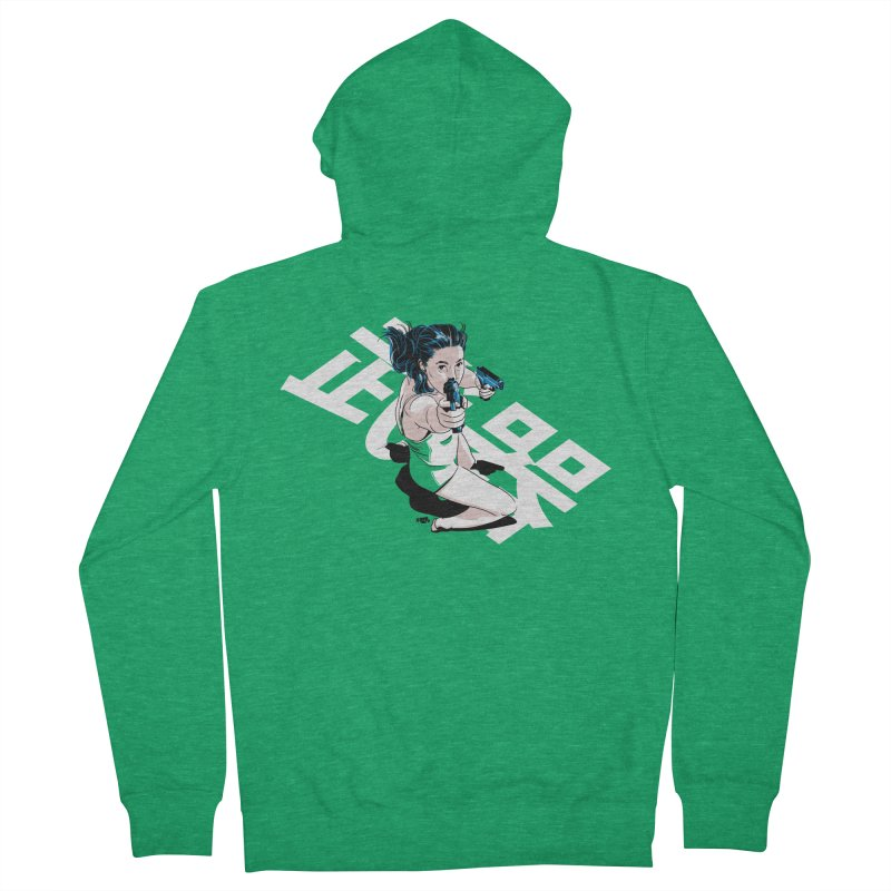 Lethal Weapon Women's French Terry Zip-Up Hoody by Huevart's Artist Shop
