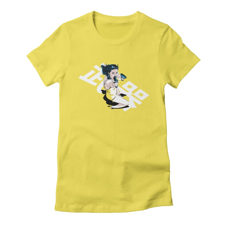 Lethal Weapon Women's Fitted T-Shirt by Huevart's Artist Shop
