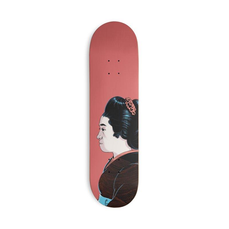 Waves Accessories Deck Only Skateboard by Huevart's Artist Shop