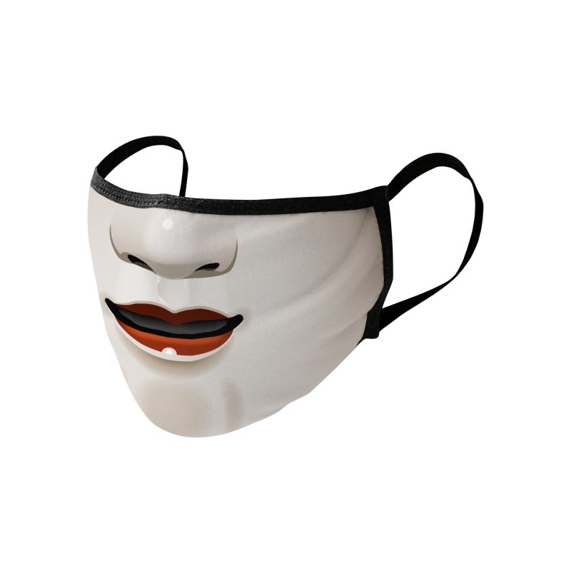 Noh Mask Accessories Face Mask by Huevart's Artist Shop