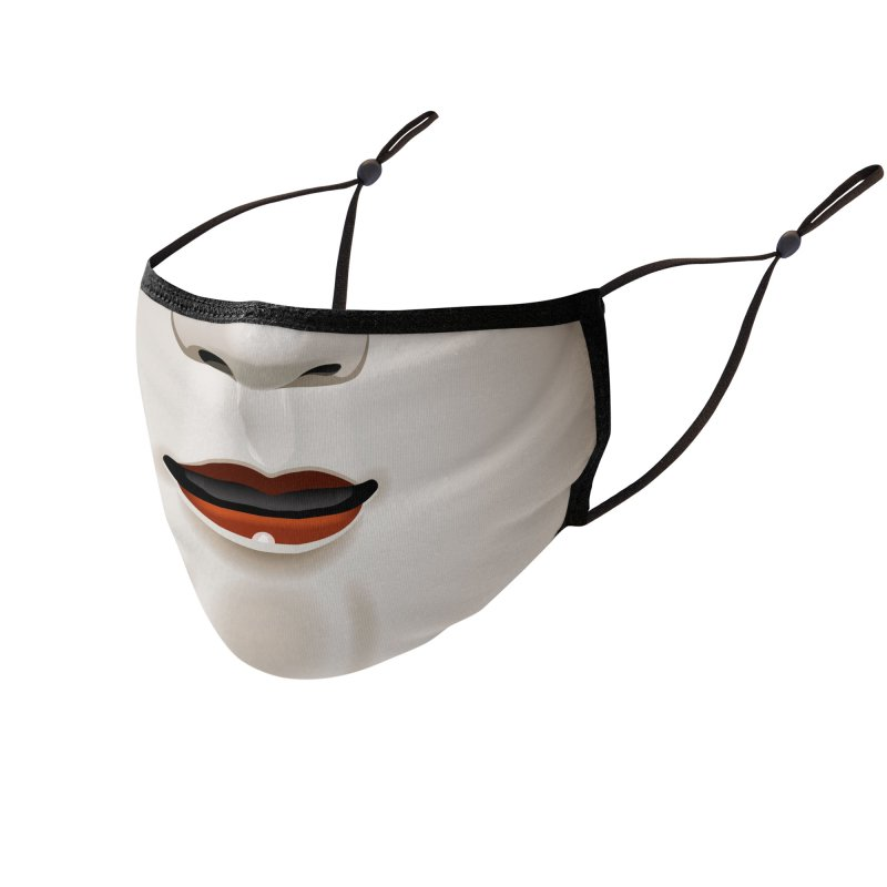 Noh Mask Accessories Face Mask by Huevart's Artist Shop