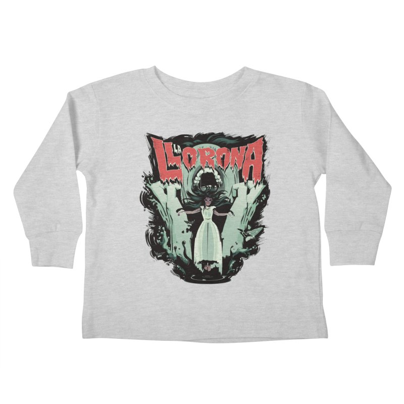 La Llorona Kids Toddler Longsleeve T-Shirt by Huevart's Artist Shop