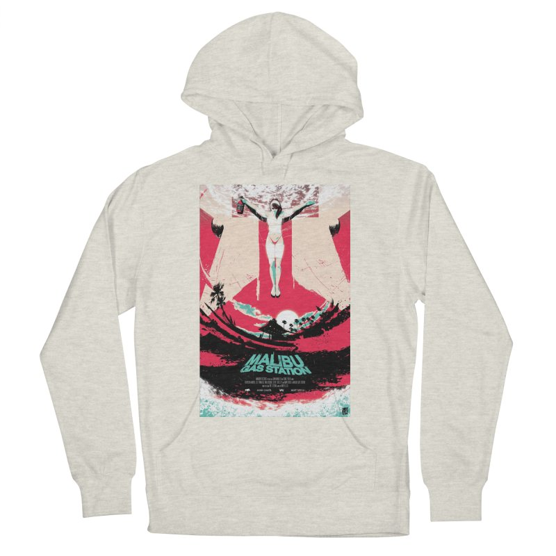 Malibu Gas Station Men's French Terry Pullover Hoody by Huevart's Artist Shop