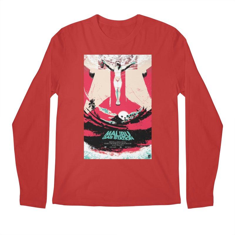 Malibu Gas Station Men's Longsleeve T-Shirt by Huevart's Artist Shop