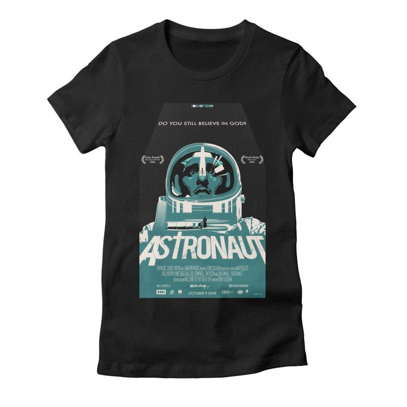 The Astronaut Women's Fitted T-Shirt by Huevart's Artist Shop
