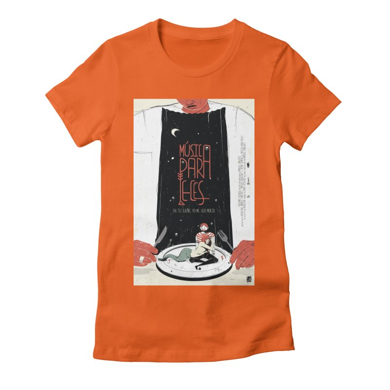 Music for Fish Women's Fitted T-Shirt by Huevart's Artist Shop