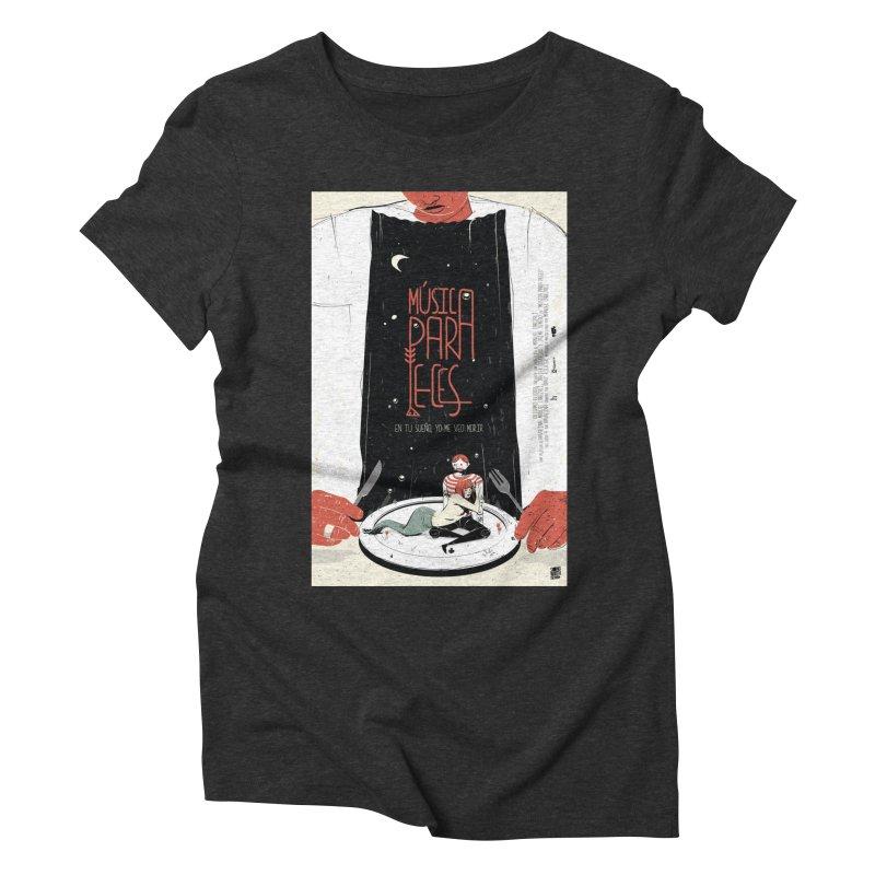 Music for Fish Women's Triblend T-shirt by Huevart's Artist Shop