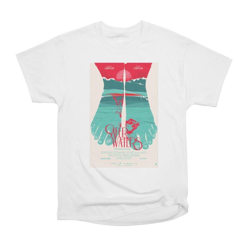 Safer Waters Men's Heavyweight T-Shirt by Huevart's Artist Shop