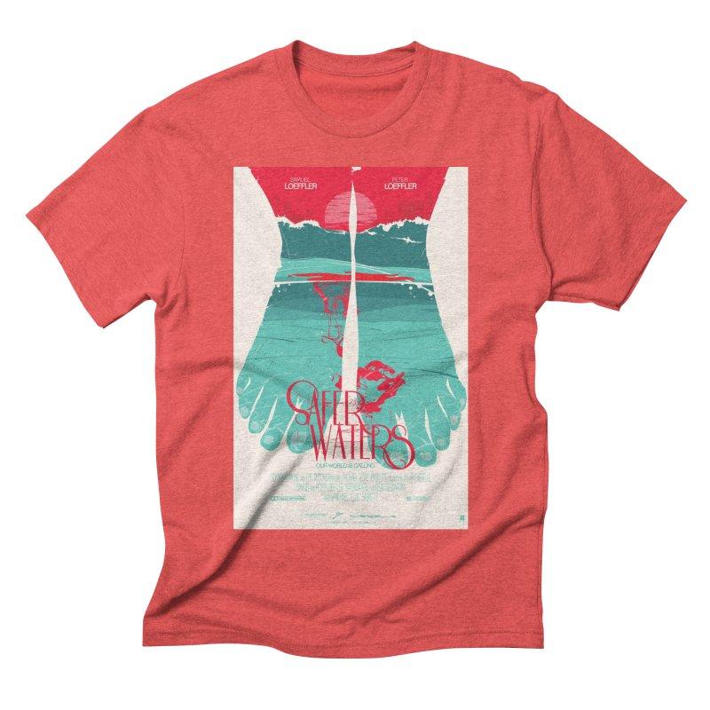 Safer Waters Men's Triblend T-shirt by Huevart's Artist Shop