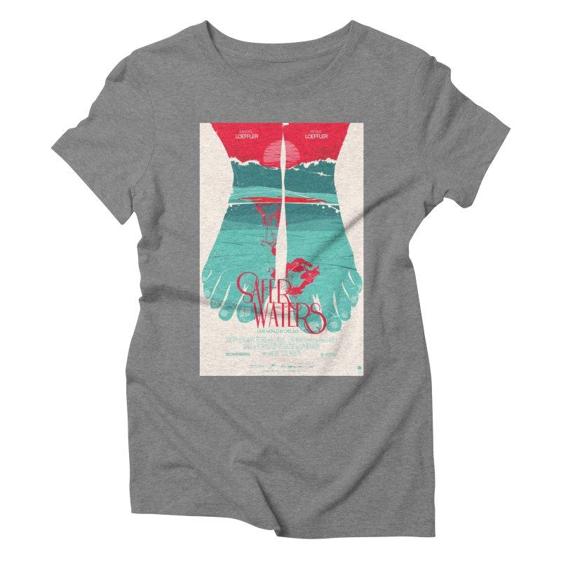 Safer Waters Women's Triblend T-Shirt by Huevart's Artist Shop