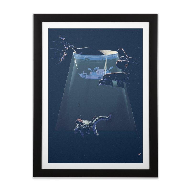 Sinking Home Framed Fine Art Print by Huevart's Artist Shop