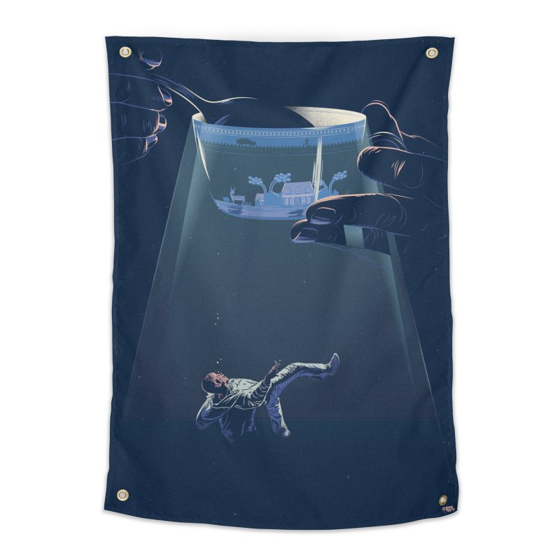 Sinking Home Tapestry by Huevart's Artist Shop