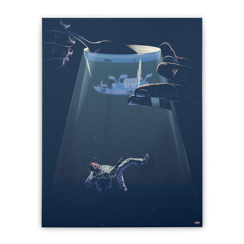 Sinking Home Stretched Canvas by Huevart's Artist Shop