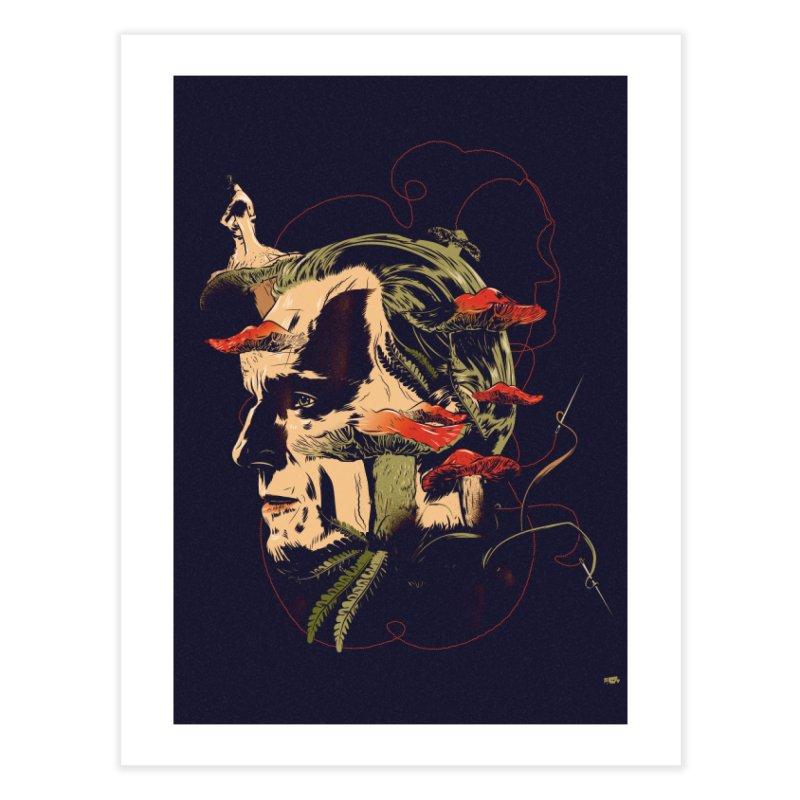 Amanita Thread Home Fine Art Print by Huevart's Artist Shop
