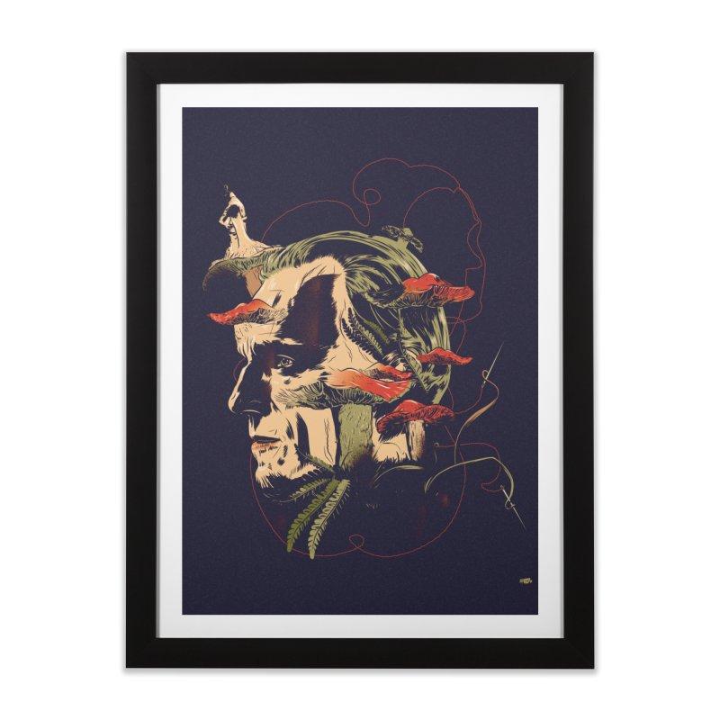 Amanita Thread Home Framed Fine Art Print by Huevart's Artist Shop