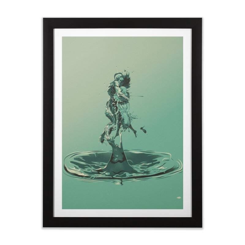 Drop Home Framed Fine Art Print by Huevart's Artist Shop