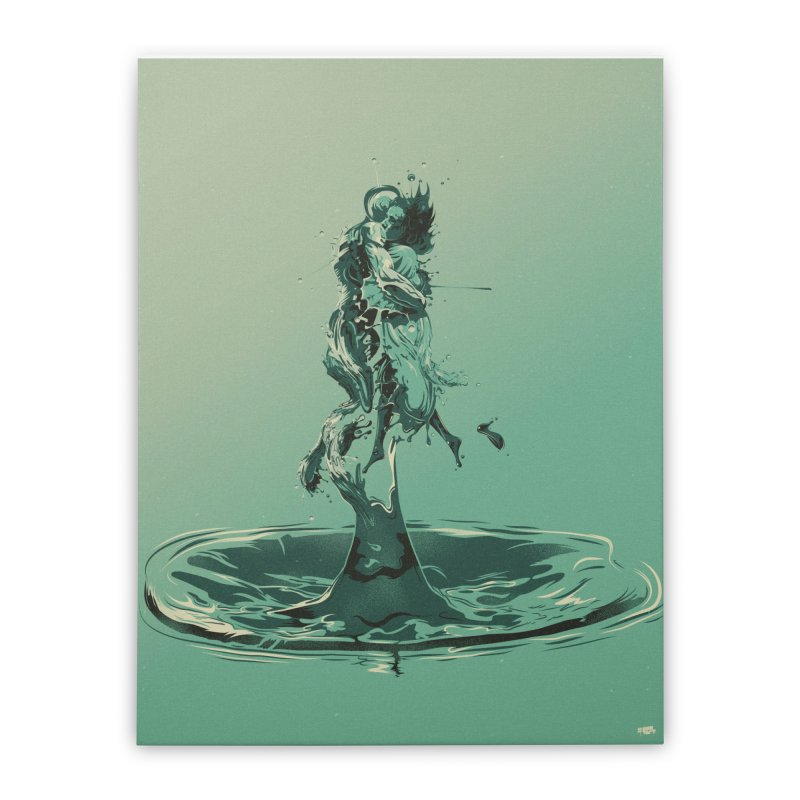 Drop Home Stretched Canvas by Huevart's Artist Shop