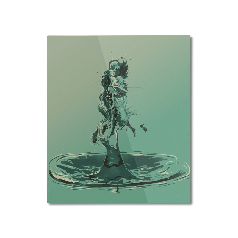Drop Home Mounted Aluminum Print by Huevart's Artist Shop