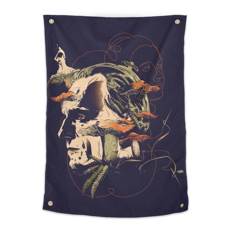 Phantom Thead (print) Home Tapestry by Huevart's Artist Shop
