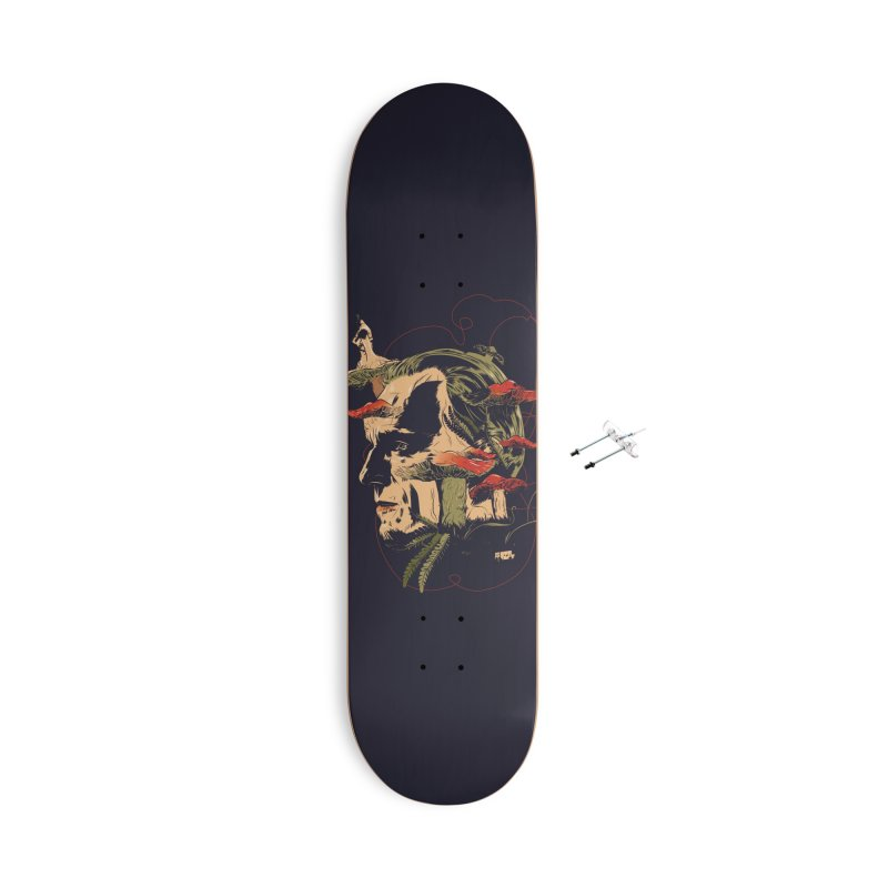 Phantom Thead (print) Accessories With Hanging Hardware Skateboard by Huevart's Artist Shop