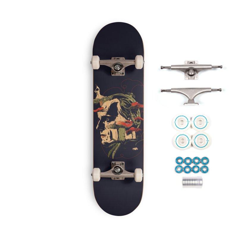 Phantom Thead (print) Accessories Complete - Basic Skateboard by Huevart's Artist Shop