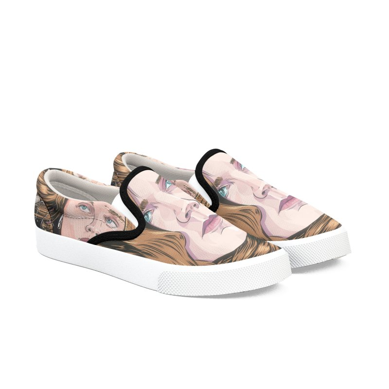 Asphyxiate Women's Slip-On Shoes by Huevart's Artist Shop