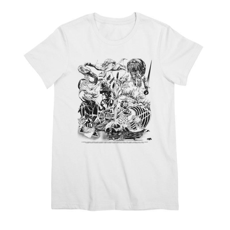 INKTOBER 2018 Women's Premium T-Shirt by Huevart's Artist Shop