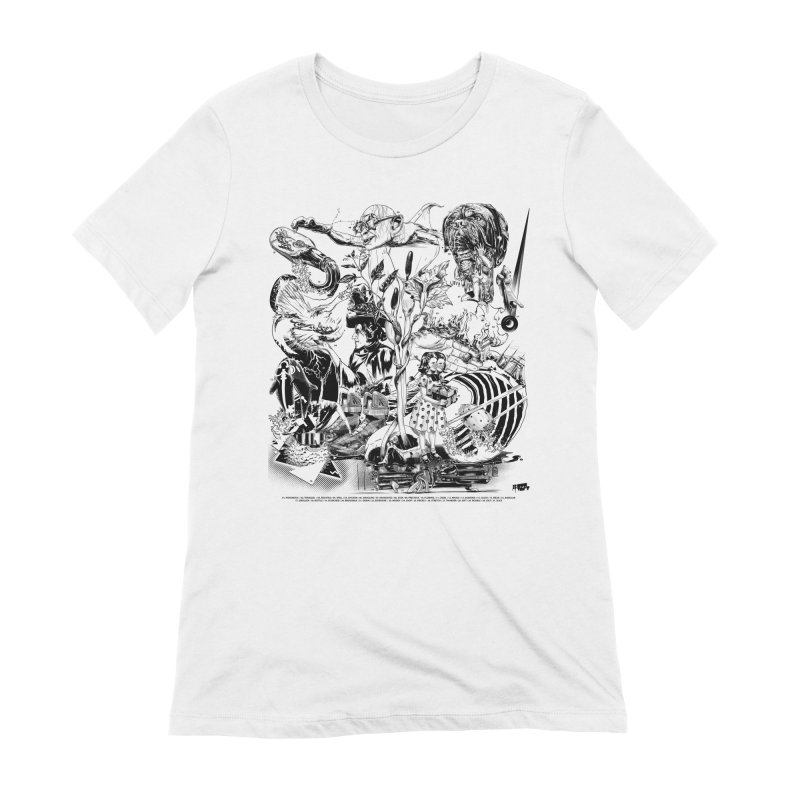 INKTOBER 2018 Women's Extra Soft T-Shirt by Huevart's Artist Shop
