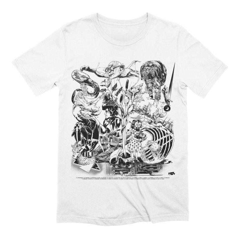 INKTOBER 2018 Men's Extra Soft T-Shirt by Huevart's Artist Shop
