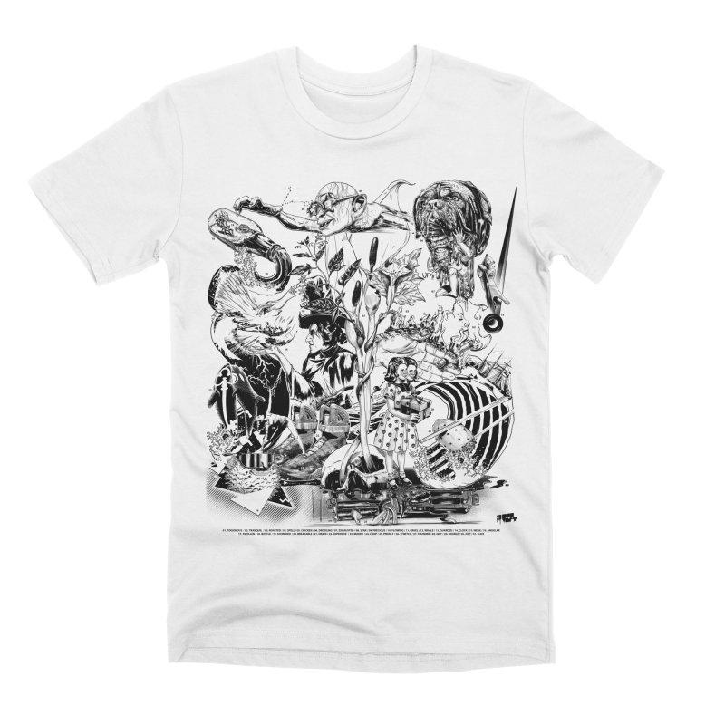 INKTOBER 2018 Men's Premium T-Shirt by Huevart's Artist Shop