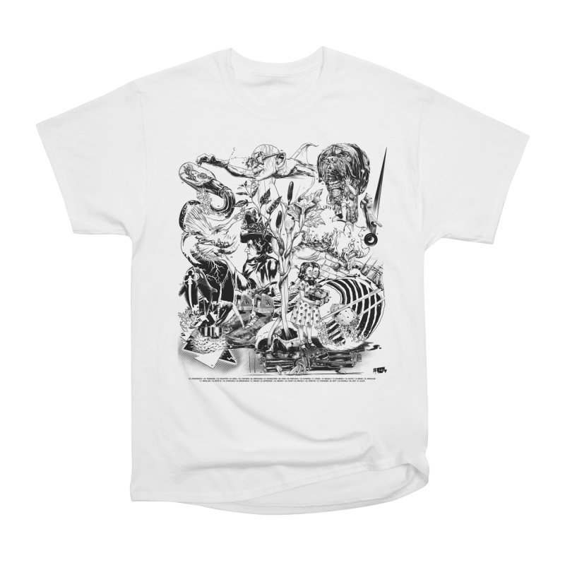 INKTOBER 2018 Men's Heavyweight T-Shirt by Huevart's Artist Shop