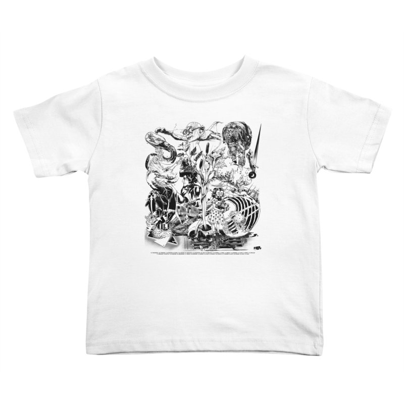 INKTOBER 2018 Kids Toddler T-Shirt by Huevart's Artist Shop