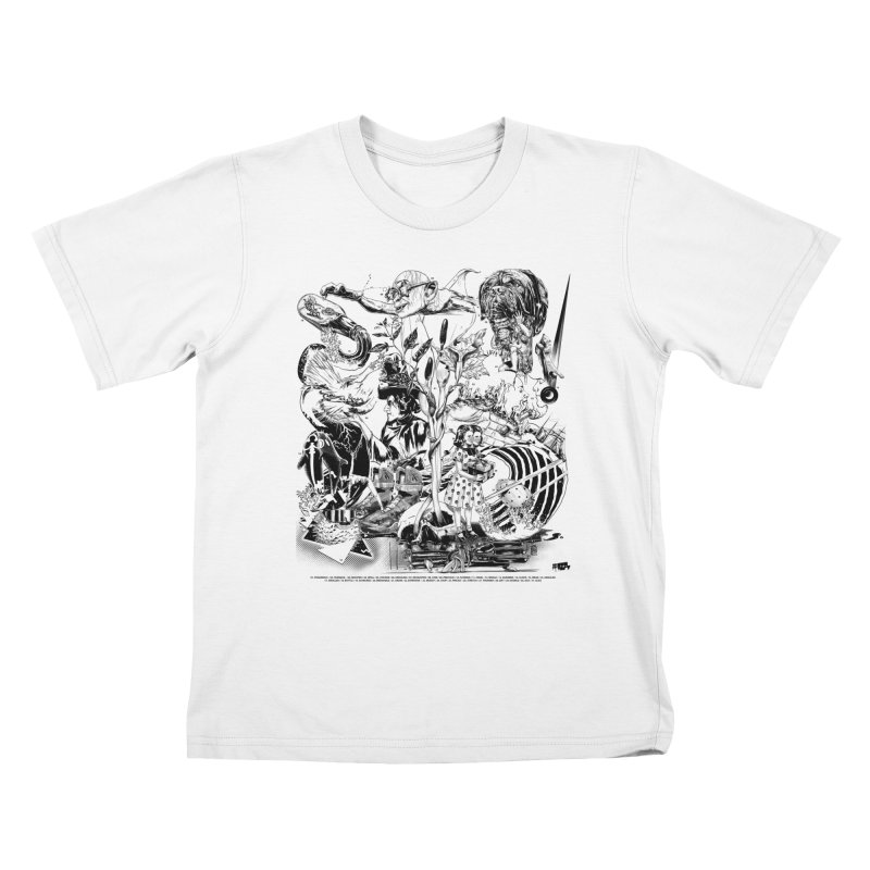 INKTOBER 2018 Kids T-Shirt by Huevart's Artist Shop