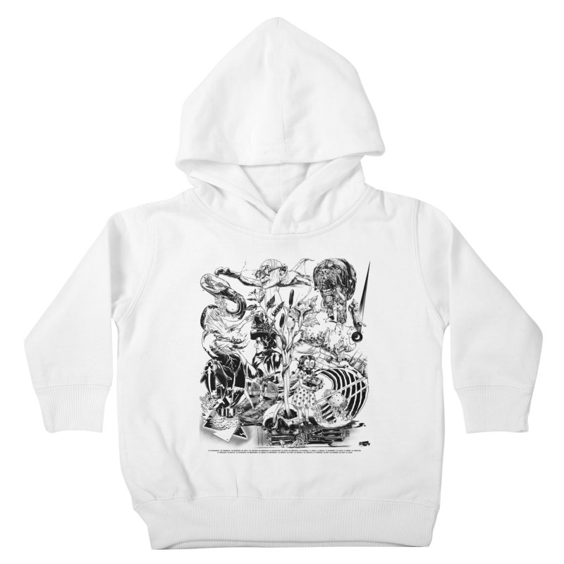 INKTOBER 2018 Kids Toddler Pullover Hoody by Huevart's Artist Shop
