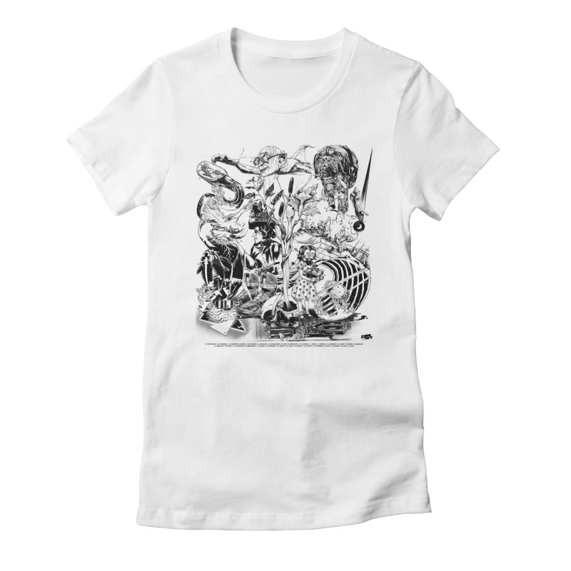 INKTOBER 2018 Women's Fitted T-Shirt by Huevart's Artist Shop