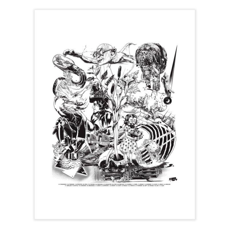 INKTOBER 2018 Home Fine Art Print by Huevart's Artist Shop
